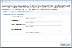 Amazon Web Services Dialog
